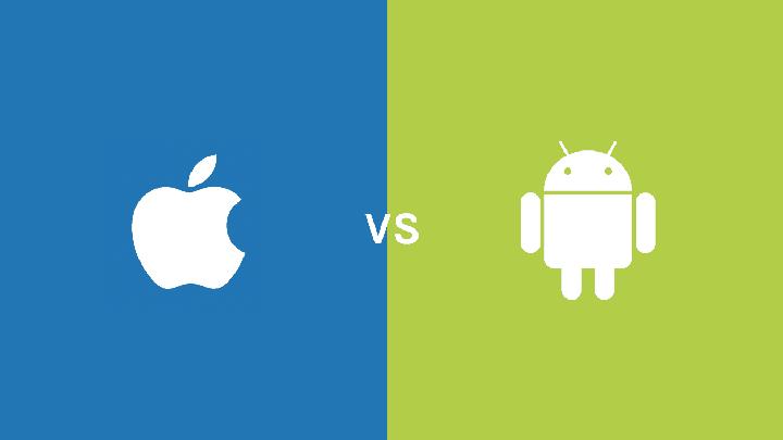 Votre Choix entre android et iOS